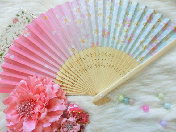 Japanese fan  Japanese fan Kimono accessories_Pink by kimonocuty