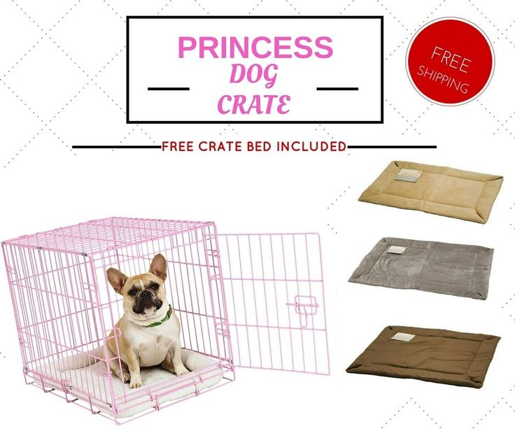 PINK DOG CRATE portable single door secure lock self heating foldable bed 25lbs