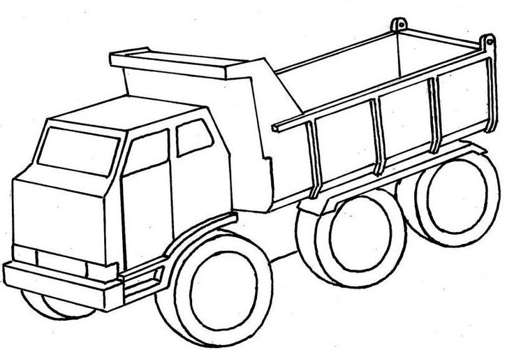 dump truck tranport land  truck car coloring pages