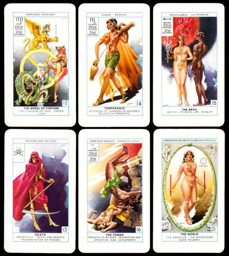 1981 DAS ORIGINAL CAGLIOSTRO TAROT 78 Tarotkarten Kartenlegen