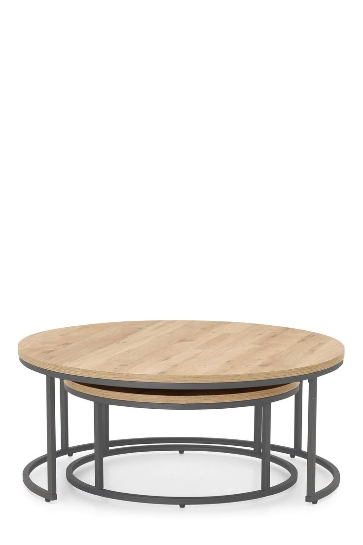 Next Bronx Nest Of 2 Coffee Tables Natural Products In