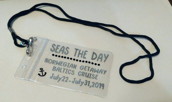 Cruise Key Card Holder Personalized Badge Holder Plastic Card Holder Gifts For Cruisers Cruise G Cruise Gifts Personalised Badges Personalized Badge Holder