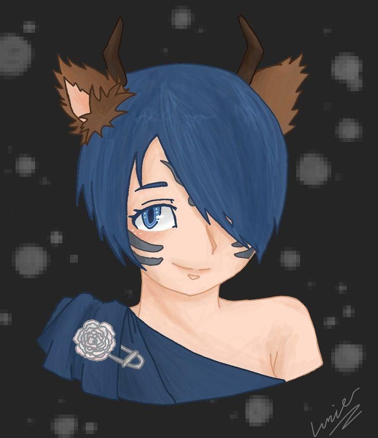 Blue girl by Lumier-san.deviantart.com on @DeviantArt