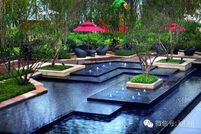 Pin By Bong Shenzhen On Water Feature Modern Landscaping Modern Water Feature Pool Water Features