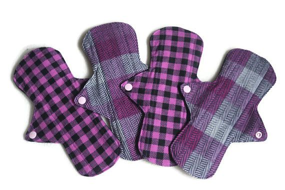 4 Flannel 9 1/2 Cotton Pads/ Washable and Reusable