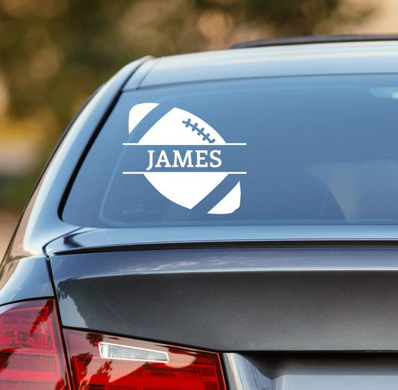 Football decal personalized football decal football car decal sports decal laptop sticker