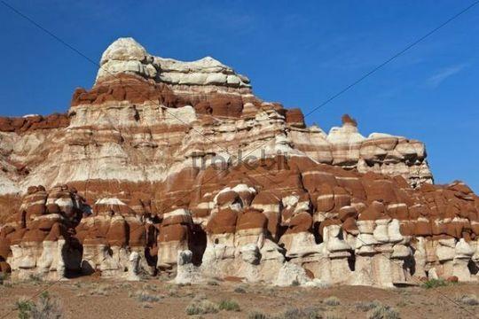 Colourful rock formations, Blue Canyon, Arizona, USA