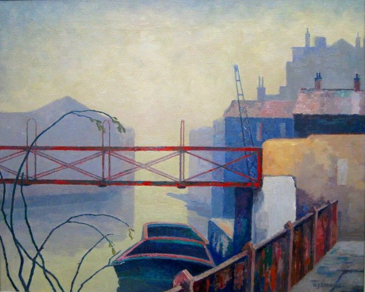 This is Red Bridge by Walter Steggles: in the show @Heather Stuart Arts pic.twitter.com/7mwEf0vNgD