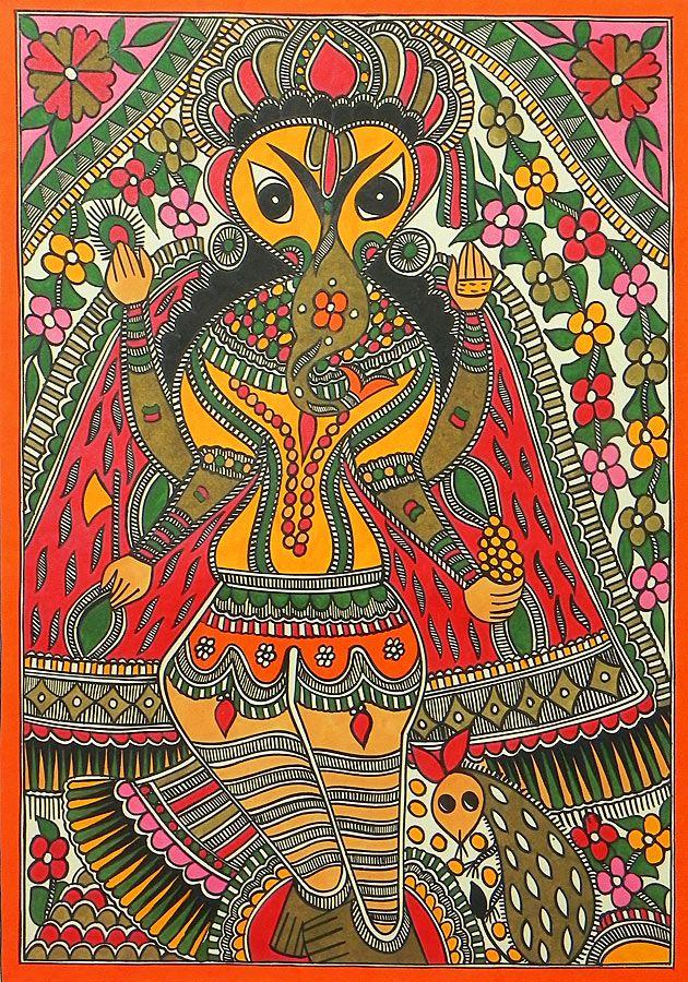 Lord Ganesha - Madhubani Painting $133.00 only