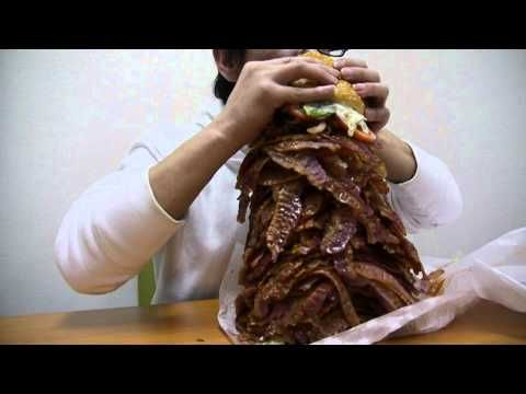 1050 strips of bacon on a Burger King Whopper in Japan.