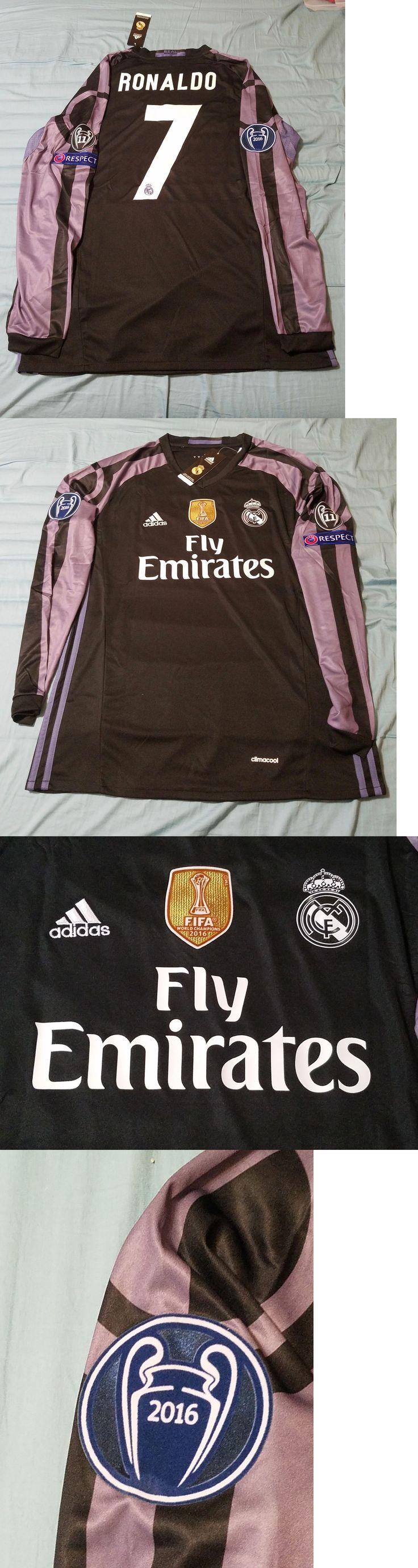 9edc92903 ... Soccer-International Clubs 2887 Cristiano Ronaldo 7 Real Madrid 16 17  Third Long Sleeve Jersey ...