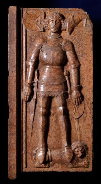 The tomb effigy of Stibor of Beckov, Hungary, 15th century