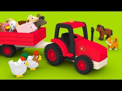 Farm animals video for children toddlers babies. Learn farm animals and their sounds in English. - YouTube