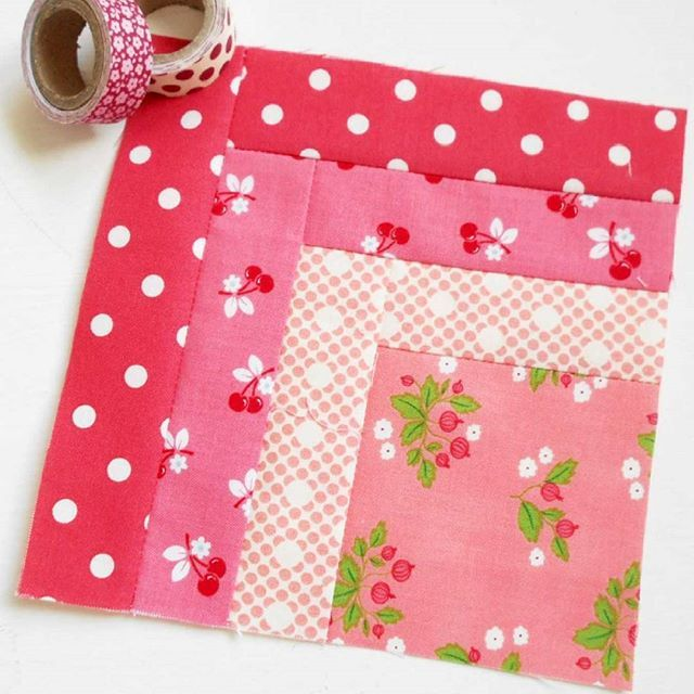 Block 238 - Pretty in Pink. Another simple #tulapinkcitysampler block. #patchsmithbad2016 #twobluebirdies #100days100blocks #100blocks100days