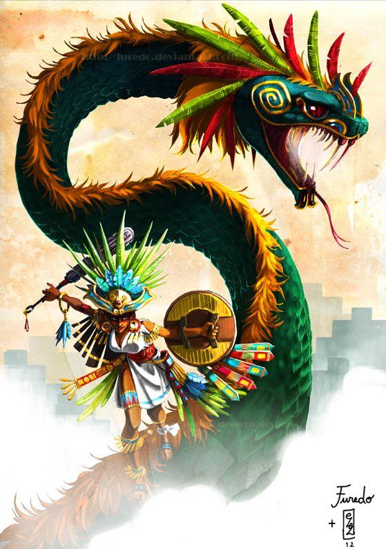 .:Quetzalcoatl dancer:. by ~Marmottegarou on deviantART