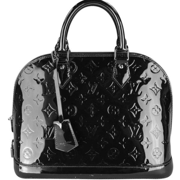 Pre-owned Louis Vuitton Alma Pm Patent Leather Handbag M90061 Shoulder... ($2,000) ❤ liked on Polyvore featuring bags, handbags, shoulder bags, black, black bags, patent leather shoulder bag, monogrammed purses, louis vuitton, hand bags and monogram handbags