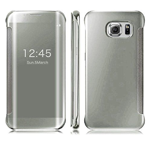 DN-TECHNOLOGY® Samsung Galaxy S7 EDGE Case-Samsung S7 EDGE Case ***All New Auto Sleep Wake Function *** Clear S view Window Flip Case - SILVER D & N http://www.amazon.co.uk/dp/B01ALWW478/ref=cm_sw_r_pi_dp_I9w4wb1PEQ4ZE