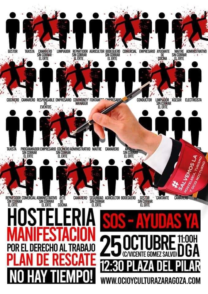 Gastronomía En Zaragoza Manifestación Hostelería Turismo Y Ocio Derecho A Zaragoza Ocio Nocturno Turismo