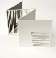 Artist book by Jenny Smith. Untitled-square (2006). Laser cut screen printed. Page size 16 x 16cm
