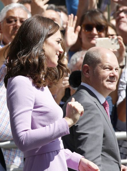 Catherine, Duchess of Cambridge and the Mayor of Hamburg Olaf Scholz  visit the Hamburg Elbphilharmonie during an official visit to Poland and Germany on July 21, 2017 in Hamburg, Germany.