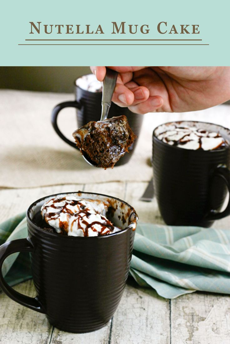 Nutella? Sign us up. With only a few ingredients you can make this delicious dessert quickly — and in a mug! The simple mug cake recipe will definitely feed your chocolate cravings.