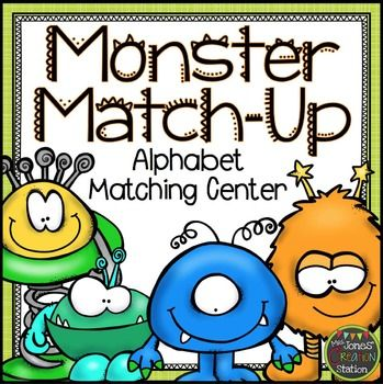 Monster Match-Up Freebie: Alphabet Matching Center  This freebie includes capital letter cards, lowercase letter cards, initial sound picture cards and a workpage.  Have your learners match the cards and write and draw their matches on the workpage  *************************************************************************** Check out these related products…  More Halloween Resources  *************************************************************************** Customer Tips:  How to get TpT…
