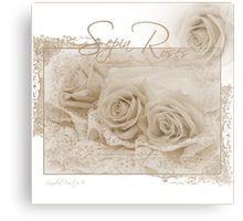 Metal Print.  #roses #threesepiaroses #sepiarosesandlace #rose #beadedlace #threesepiaroses #roseart #sepiaroseart  #romanticroses #feminineroses #floralhomedecor #sandrafoster