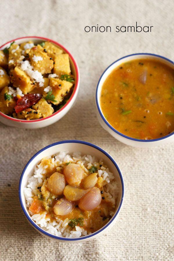 vengaya sambar recipe, how to make onion sambar recipe