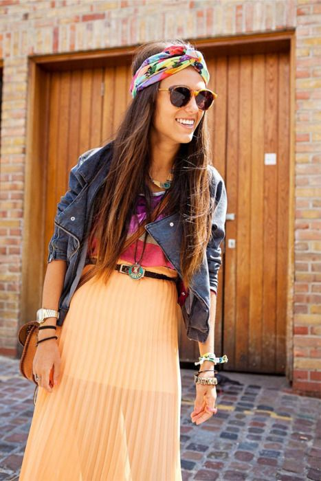: Outfits, Head Scarfs, Boho Chic, Headwrap, Head Wraps, Turban, Leather Jackets, Headbands, Maxi Skirts