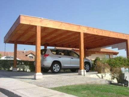 Resultado de imagen para estacionamiento de madera para - Construccion de pergolas de madera ...