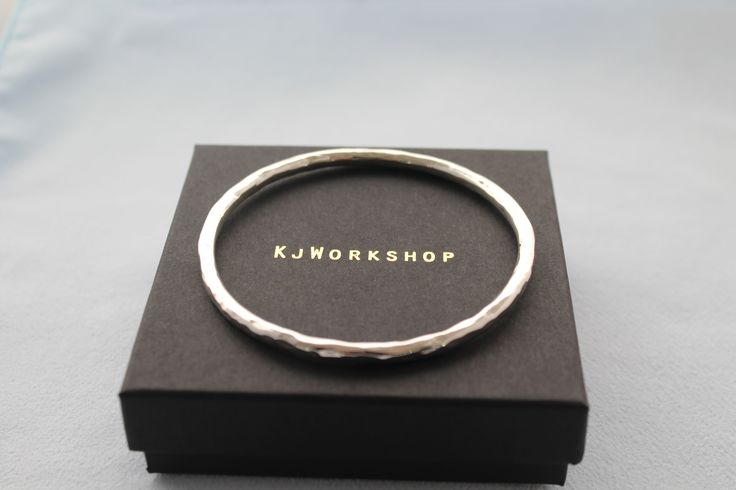 4mm Sterling silver bangle  - Hand- crafted solid silver bangle