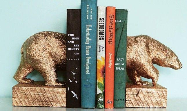 How to Make Gilded Polar Bear Bookends