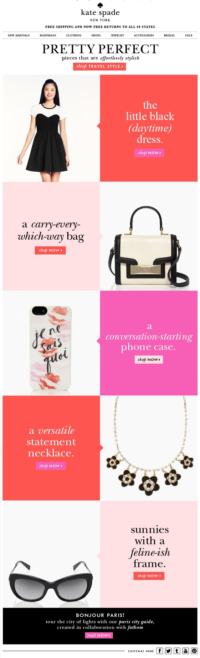 Kate Spade – love this trend sectioning