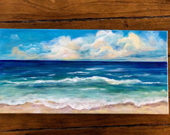 Ocean Painting Beach Painting Beach Decor Florida Painting
