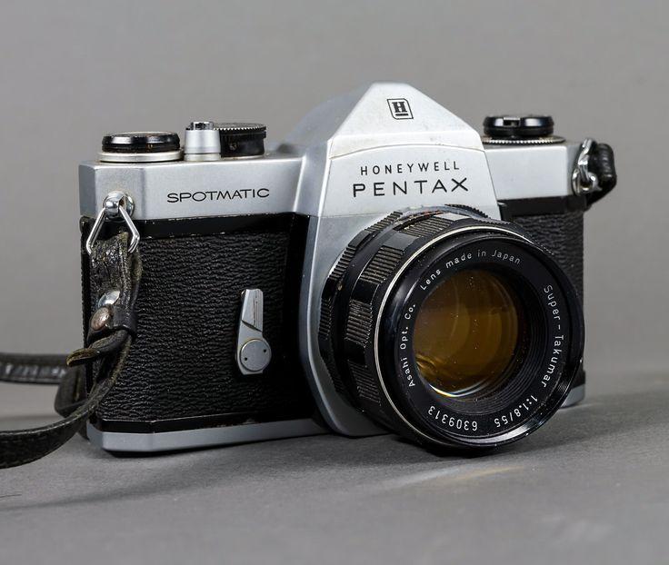 Vintage Honeywell Pentax Spotmatic w/ Super-Takumar 55mm f/1.8 Lens - WORKING   eBay