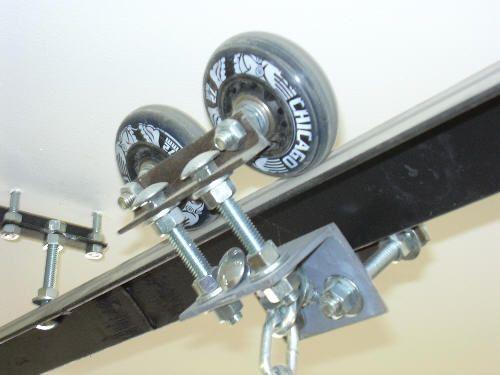 Idea for Hoist Track to mount large stock on lathe