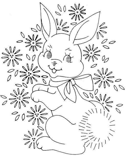 baby quilt Laura wheeler bunny 761   Flickr - Photo Sharing!
