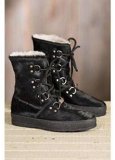 Women's Ammann Zermatt Shearling-Lined Cowhide Leather Boots