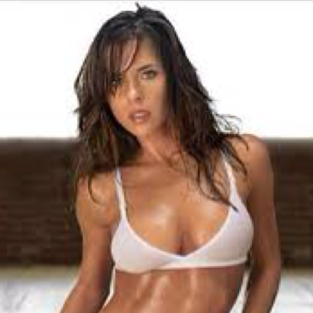 Kelly Monaco. Love her! Best known as an actress, for her portrayal of Sam Morgan on General Hospital  Winning 1st place on the first season ever of Dancing with the Stars! She works out and loves to dance everyday! Want to look like her! Her body is sick! Amazing!
