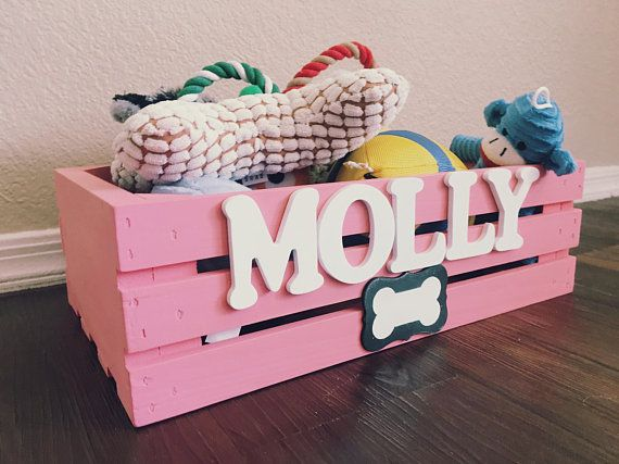 Doggy Toy Box Personalized Pet Storage Dog Toy Crate Toy Dog Toy