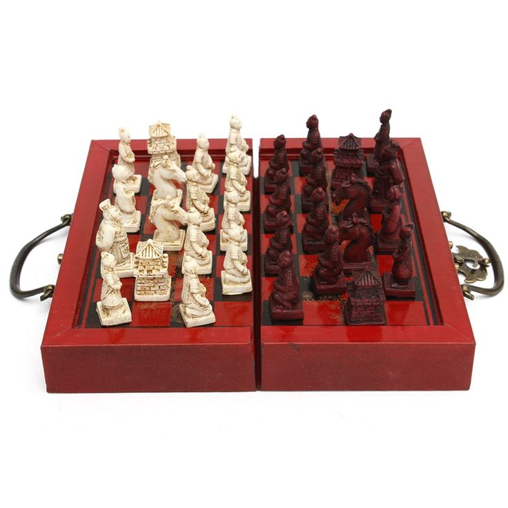 ==> [Free Shipping] Buy Best KiWarm Classic Decor Craft Chinese Antique Figurines Chess Set Miniature Chess Travel Games Draughts Entertainment Business Gift Online with LOWEST Price | 32793271941