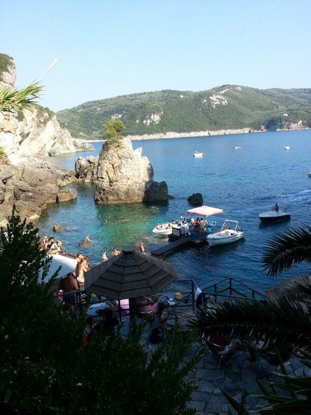 A little piece of paradise in corfu, Greece #laGrotta #palaiokastritsa #corfu #greece #summer2015