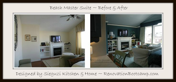 The before and after master suite rejuvenation! Designed by @sieguzi RenovationBootcamp.com