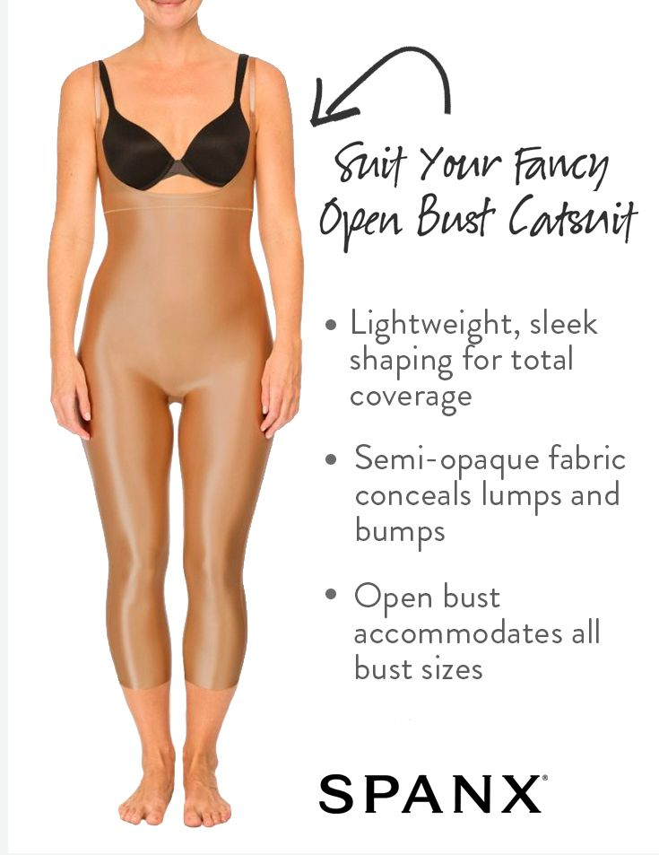 b63adfd637052a The perfect wardrobe solution for special occasions.   Suit Your Fancy Open-Bust  Catsuit by SPANX