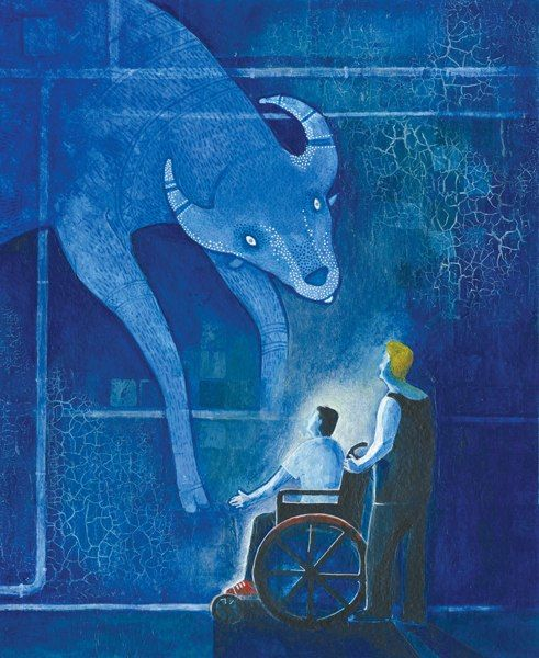 """Mariam Petrosyan illustration for """"The House in Which...""""."""