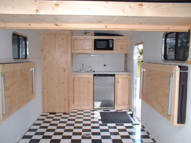 cargo trailer camper conversion | RV.Net Open Roads Forum: converting a cargo trailer to a toy hauler