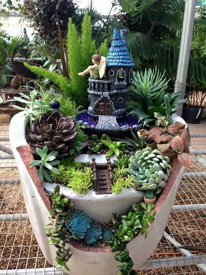 25 best Garden handcraft images on Pinterest Garden fountains