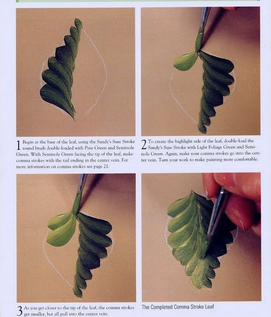 One Stroke painting leaves - senia One Stroke - Picasa Web Albums