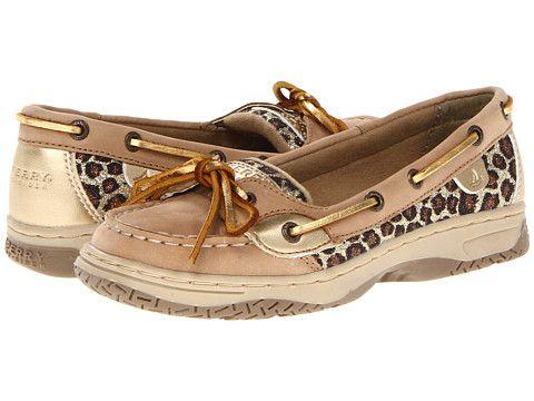 Sperry Kids Angelfish (Little Kid/Big Kid) Linen/Gold Leopard - Zappos.com Free Shipping BOTH Ways