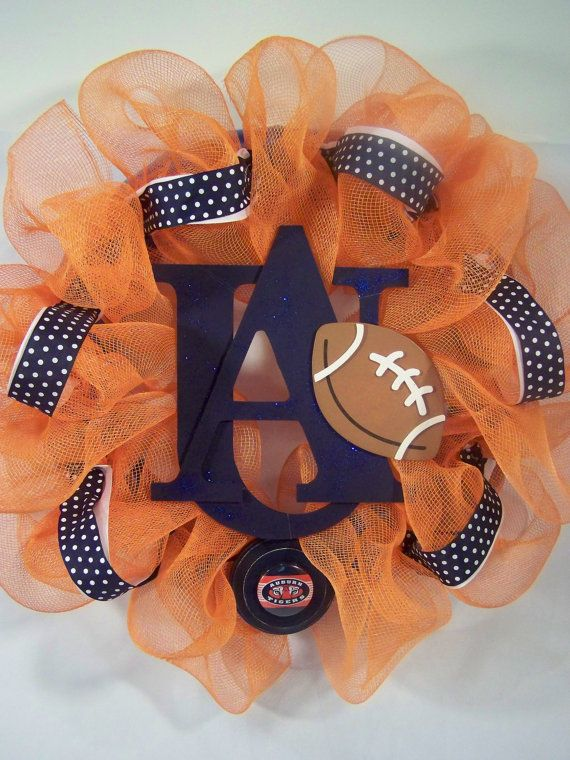 AuburnAuburn Wars Eagles, Crafts Ideas, Auburn Tigers, Auburnwar Eagles, Front Doors, Things Auburn, Wreaths Ideas, Auburn Wreaths, Mesh Wreaths